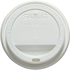 Solo Cup Traveler Drink-Thru Lid, White (Box of 300)