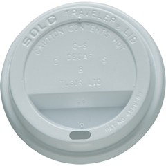Solo Cup Traveler Drink-Thru Lids, 10oz Cups, White (Box of 1000)