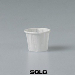 Solo Cup Treated Paper Souffle Portion Cups, 1/2 oz., White, 250/Bag (Box of 5000)