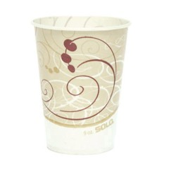 Solo Cup Waxed Paper Cold Cups, 9 oz., Symphony Design, 100/Bag (Box of 2000)
