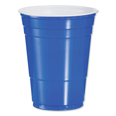 Solo Plastic Party Cold Cups, 16 oz., Blue, 1000/Carton