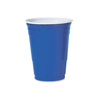 Solo Plastic Party Cold Cups, 16 oz., Blue, 50/Pack