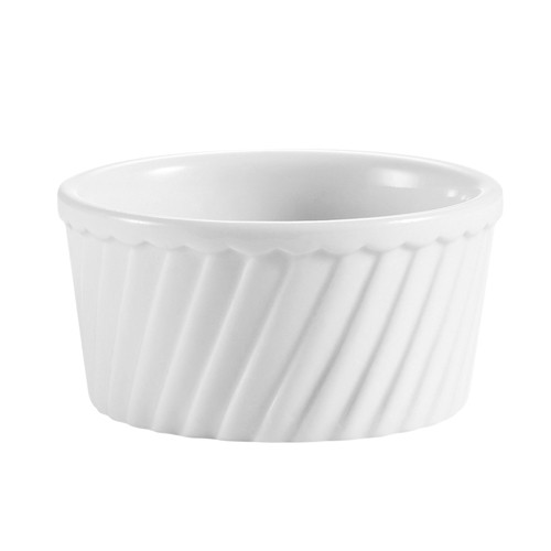 CAC China RKF-18-S Fluted Souffle Bowl 18 oz.