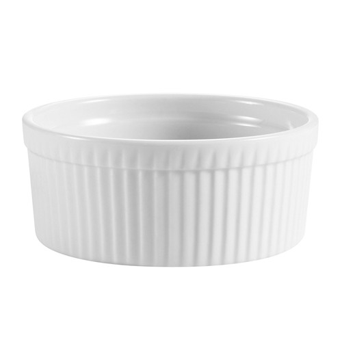 CAC China SFB-48 Fluted Souffle Bowl 48 oz.
