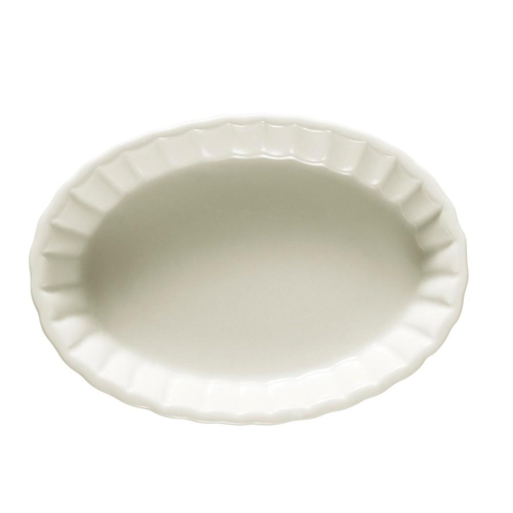 "CAC China SFV-12 Oval Souffle 10 oz. Baking Dish 7 3/4"" x 5 1/2"" x 1 3/8"""