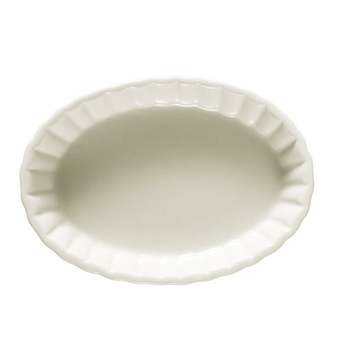 "CAC China SFV-5 Oval Souffle 5 oz. Baking Dish, 5 1/2"" x 4"" x 7/8"""