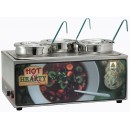 "Winco ESM-34HNB Soup Merchandiser ""Hot Hearty"" with Three 4 Qt. insets, without Menu Board"