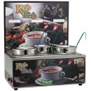 "Winco ESM-34KF Soup Merchandiser""Kettle Fresh"" with Three 4 Qt. insets, with Menu Board"