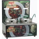 "Winco ESM-27HH Soup Merchandiser ""Hot Hearty"" with Two 7 Qt. Insets with Menu Board"