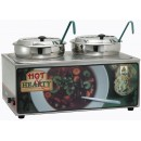 "Winco ESM-27HNB Soup Merchandiser""Hot Hearty"" with Two 7 Qt.Insets without Menu Board"