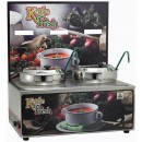 "Winco ESM-27KF Soup Merchandiser ""Kettle Fresh"" with Two 7 Qt. insets with Menu Board"