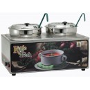 "Winco ESM-27KNB Soup Merchandiser""Kettle Fresh"" with Two 7 Qt. insets without Menu Board"
