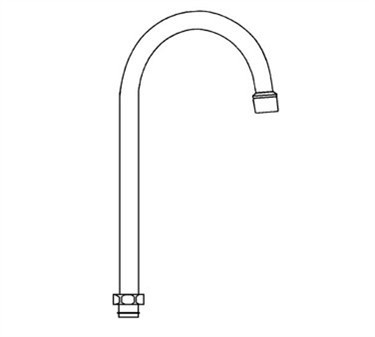 Franklin Machine Products  113-1063 Spout (Gooseneck by Fisher
