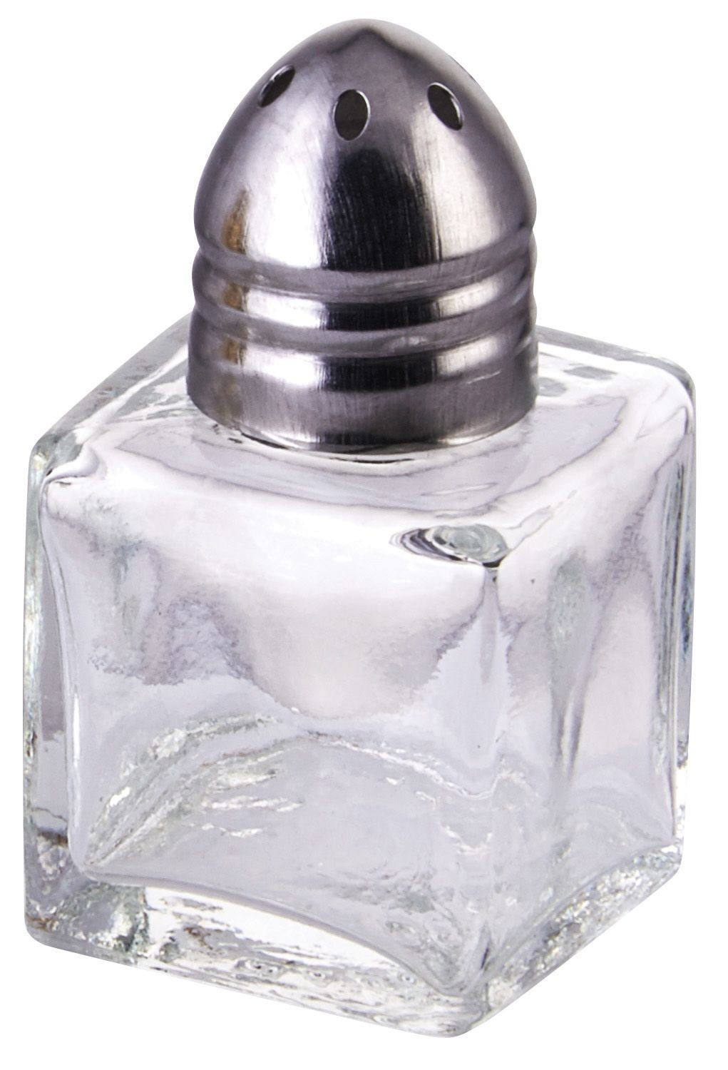 Winco g-100 Square .5 oz. Glass Salt/Pepper Shaker with Chrome Top
