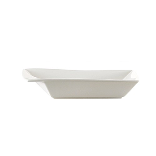 CAC China KSE-B307 Kingsquare Square Bowl with Rim 14 oz.