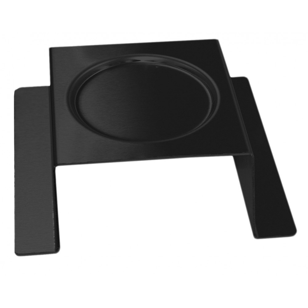 Square Burner Stand Black Powder Coated Steel Finish- 7