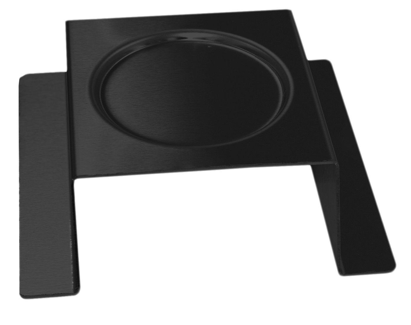 "Rosseto SM170 Square Black Matte Steel Burner Stand 7"" x 7"" x 2"""