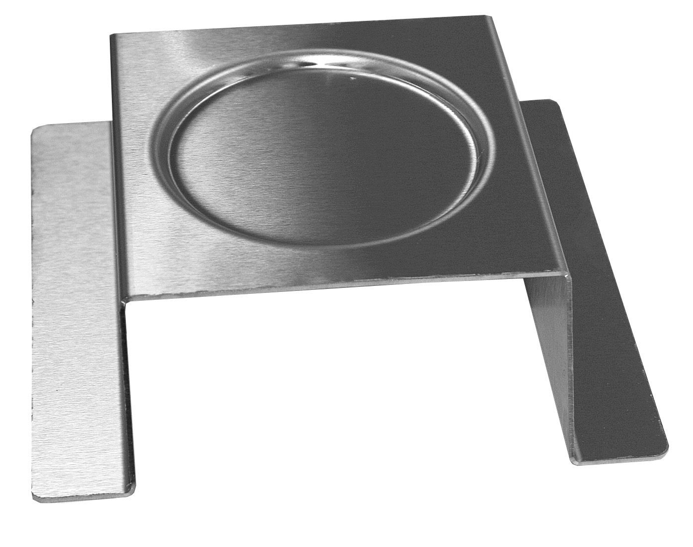 "Rosseto SM169 Square Stainless Steel Brushed Finish Burner Stand 7"" x 7"" x 3"""
