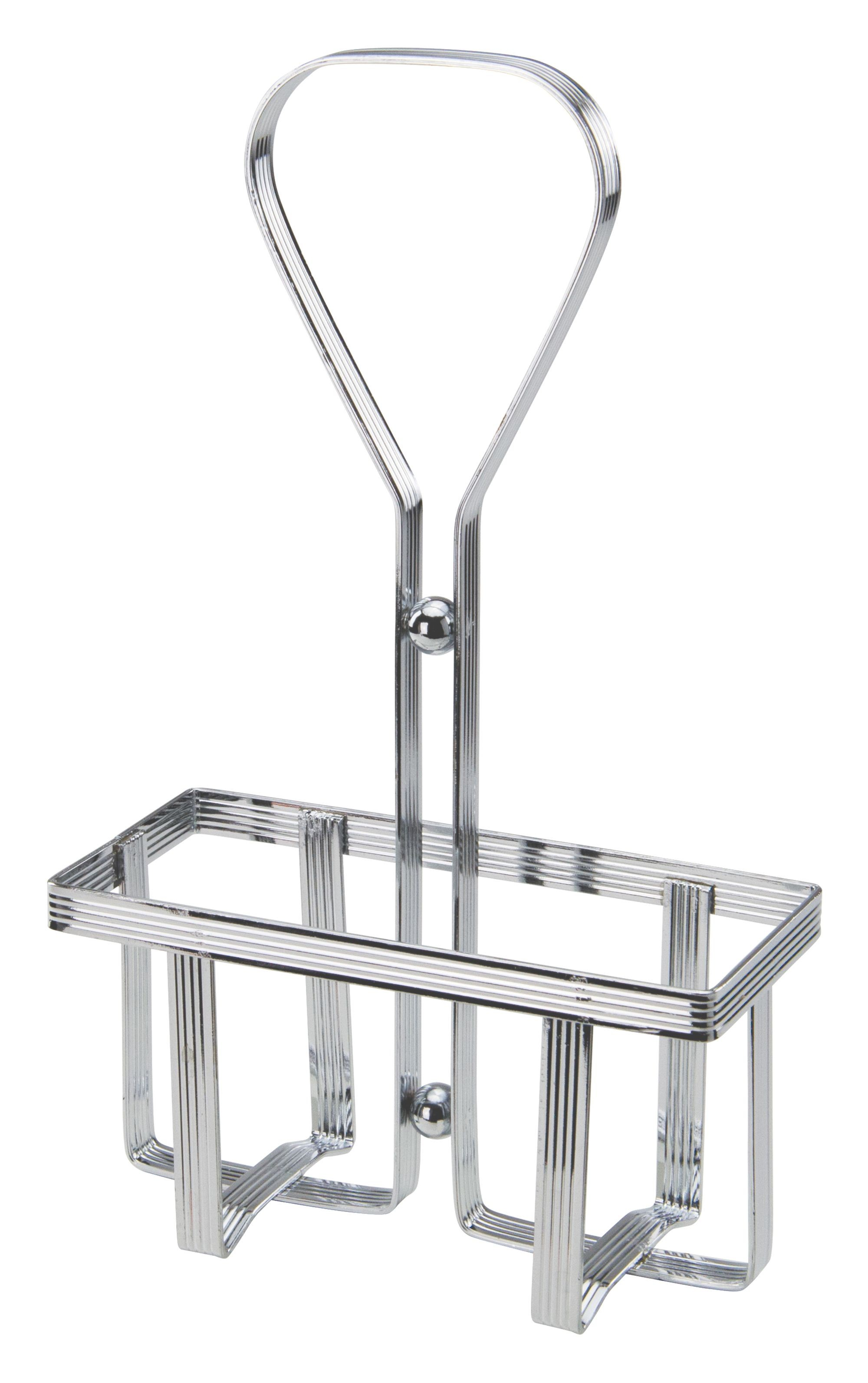 Square Chrome Plated Wire Oil & Vinegar Cruet Rack