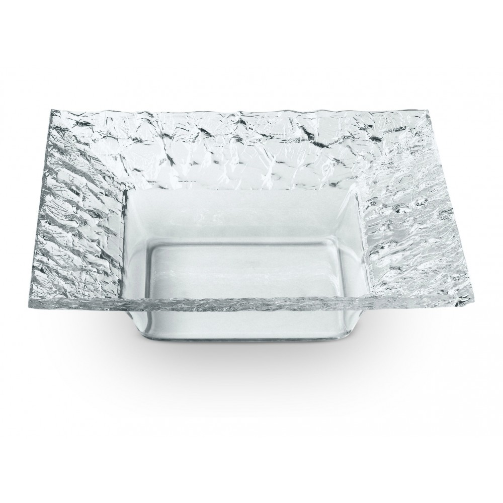 Square Dish Clear Acrylic- 10