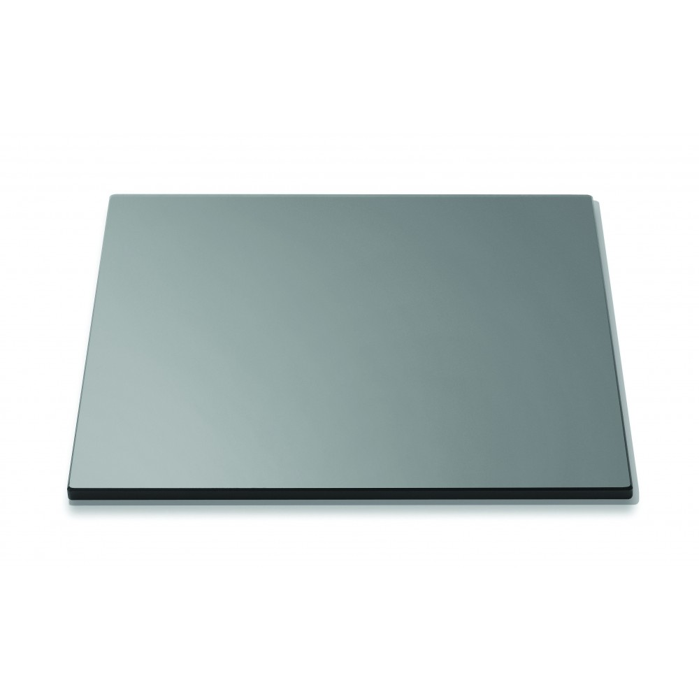 "Rosseto SG001 Square Black Tempered Glass Surface 14"" x 14"""