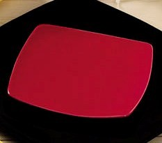 CAC China R-FS6R Clinton Color Square Flat Plate, Red, 6 7/8""