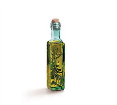 Square Green Tinted 8-1/2 Oz. Corked Prima Olive Oil Bottle