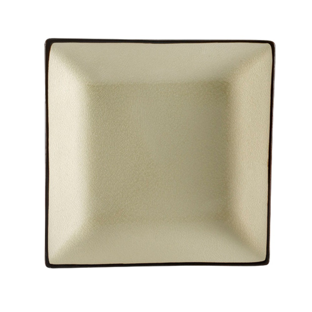 CAC China 6-S16-W Japanese Style Square Plate, Creamy White 10 1/2""