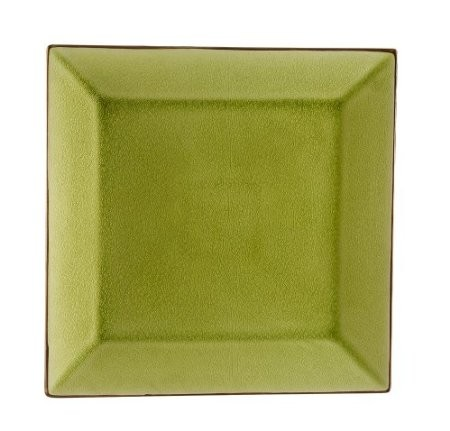 Square Plate Golden Green, 5