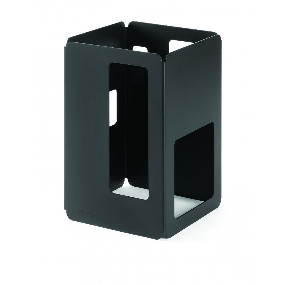 "Rosseto SM129 Black Matte Steel Tall Square Riser 6"" x 6"" x 10""H"