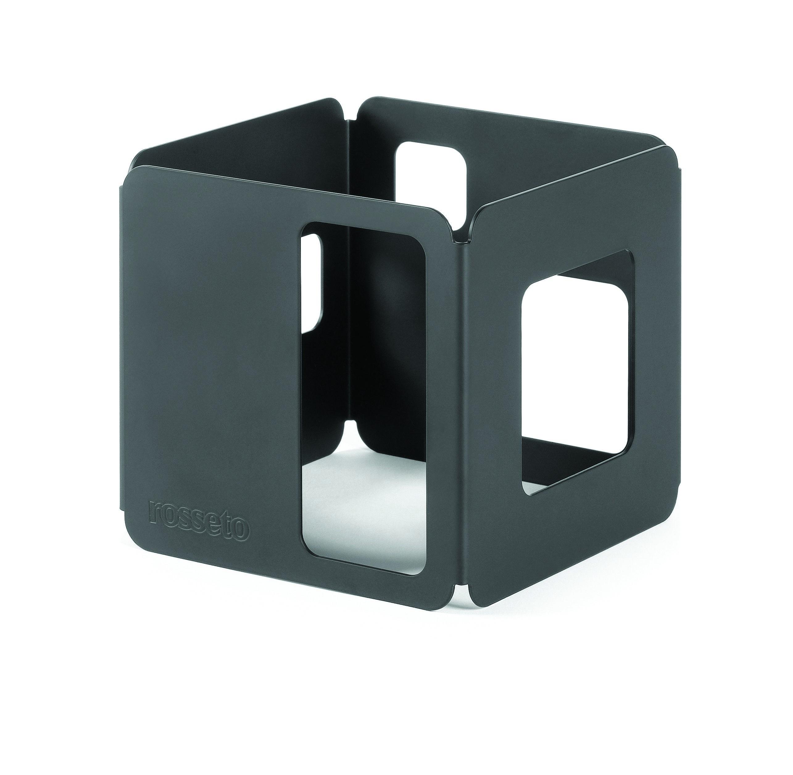 "Rosseto SM128 Black Matte Steel Tall Square Riser 6"" x 6"" x 6""H"