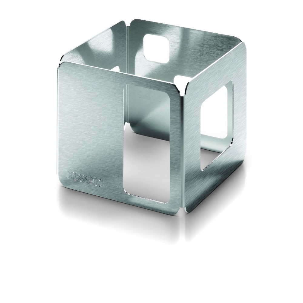 "Rosseto D62977 Stainless Steel Brushed Finish Square Riser 6"" x 6"" x 6""H"