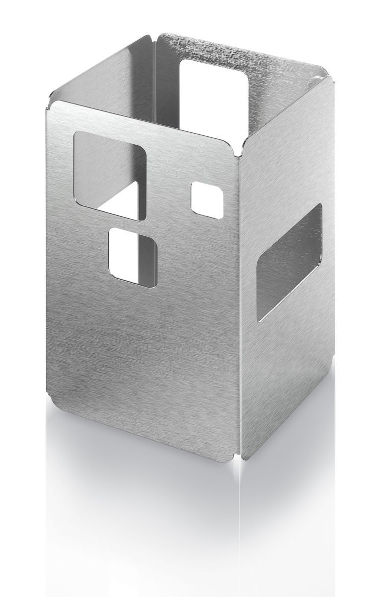 "Rosseto D61877 Stainless Steel Brushed Finish Tall Square Riser 6"" x 6"" x 10""H"