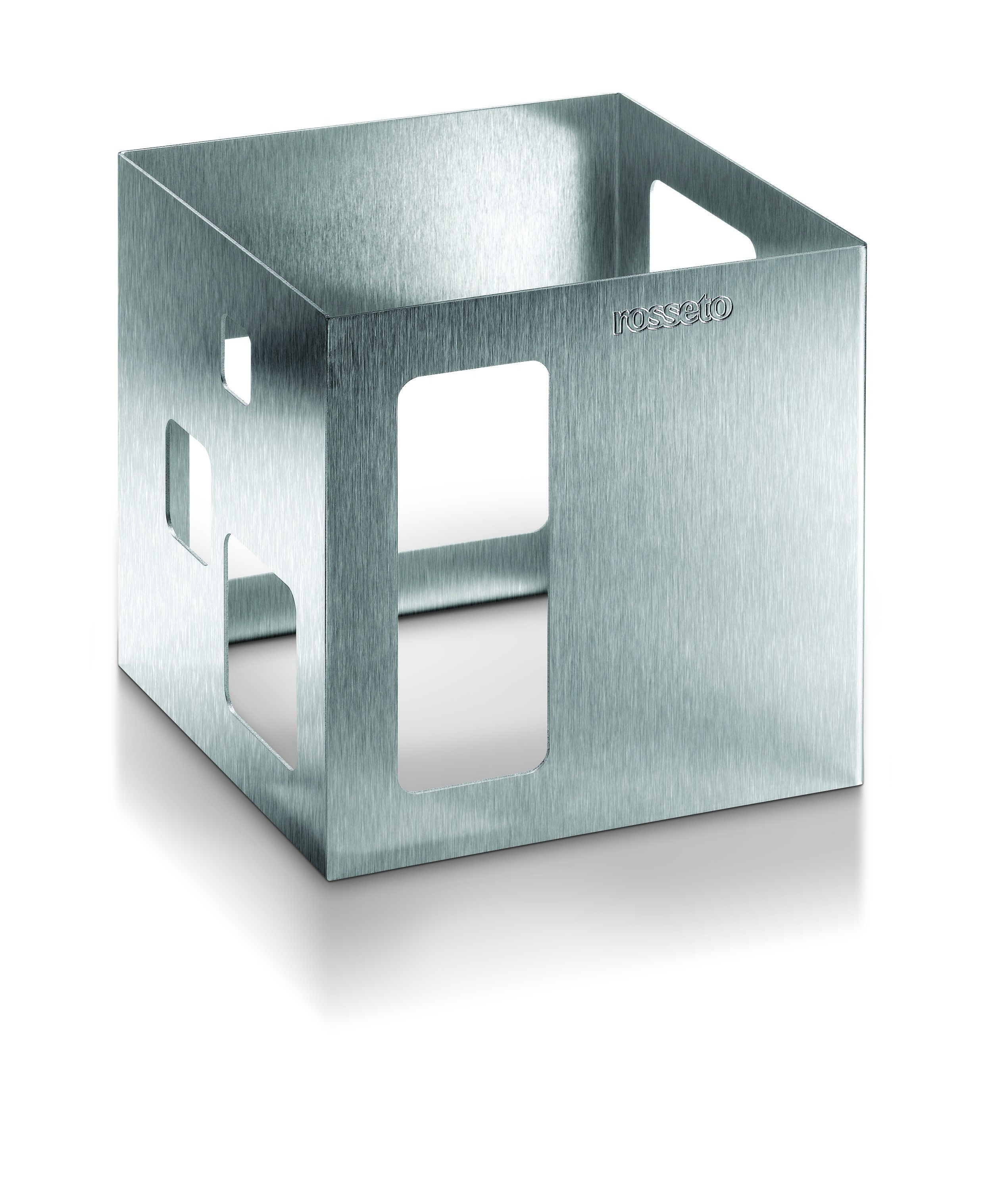 """Rosseto D63177 Square Stainless Steel Brushed Finish Square Riser 7"""" x 7"""" x 7""""H"""