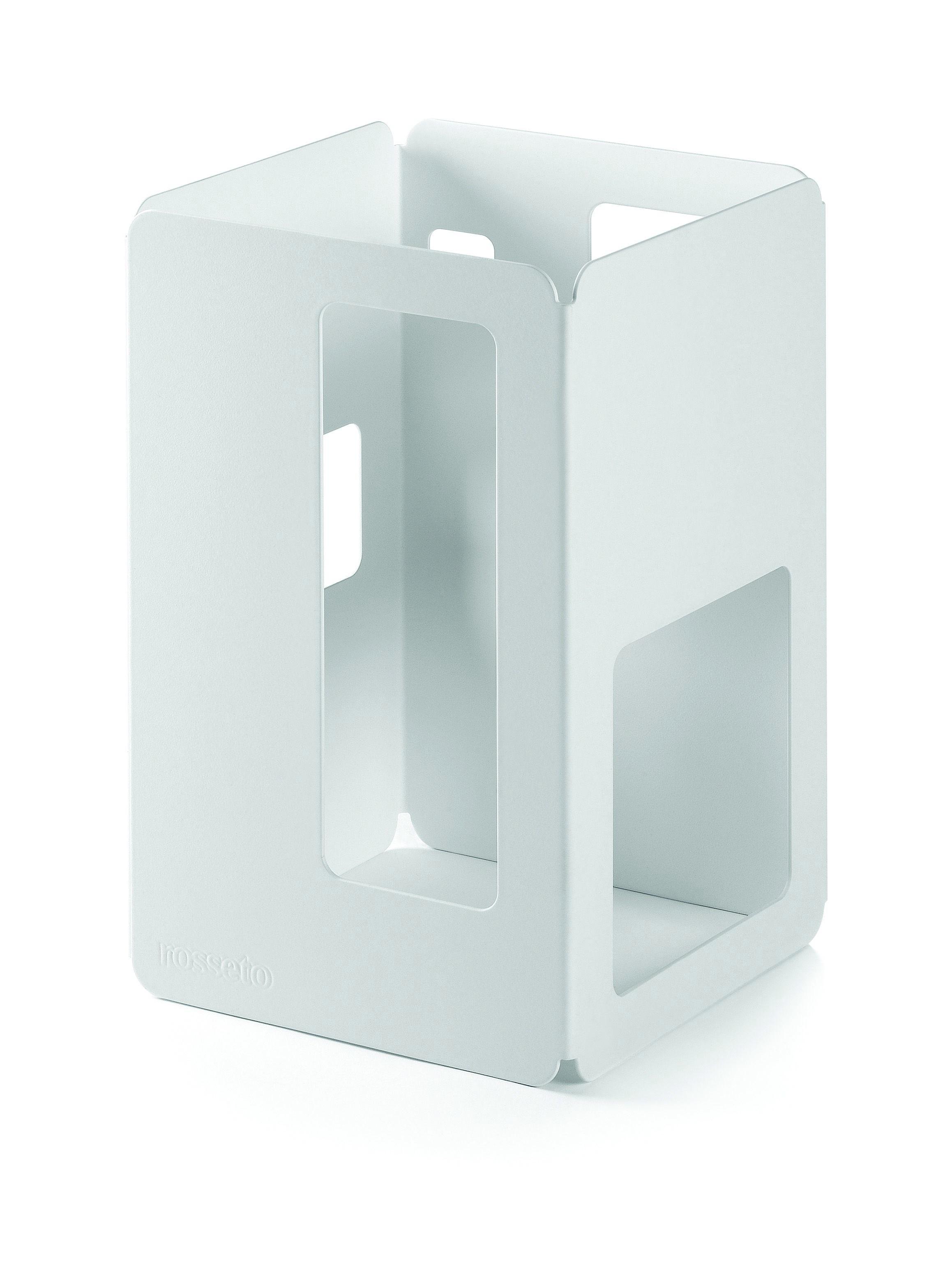 """Rosseto SM149 White Matte Steel Square Riser- 6"""" x 6"""" x 10""""H"""