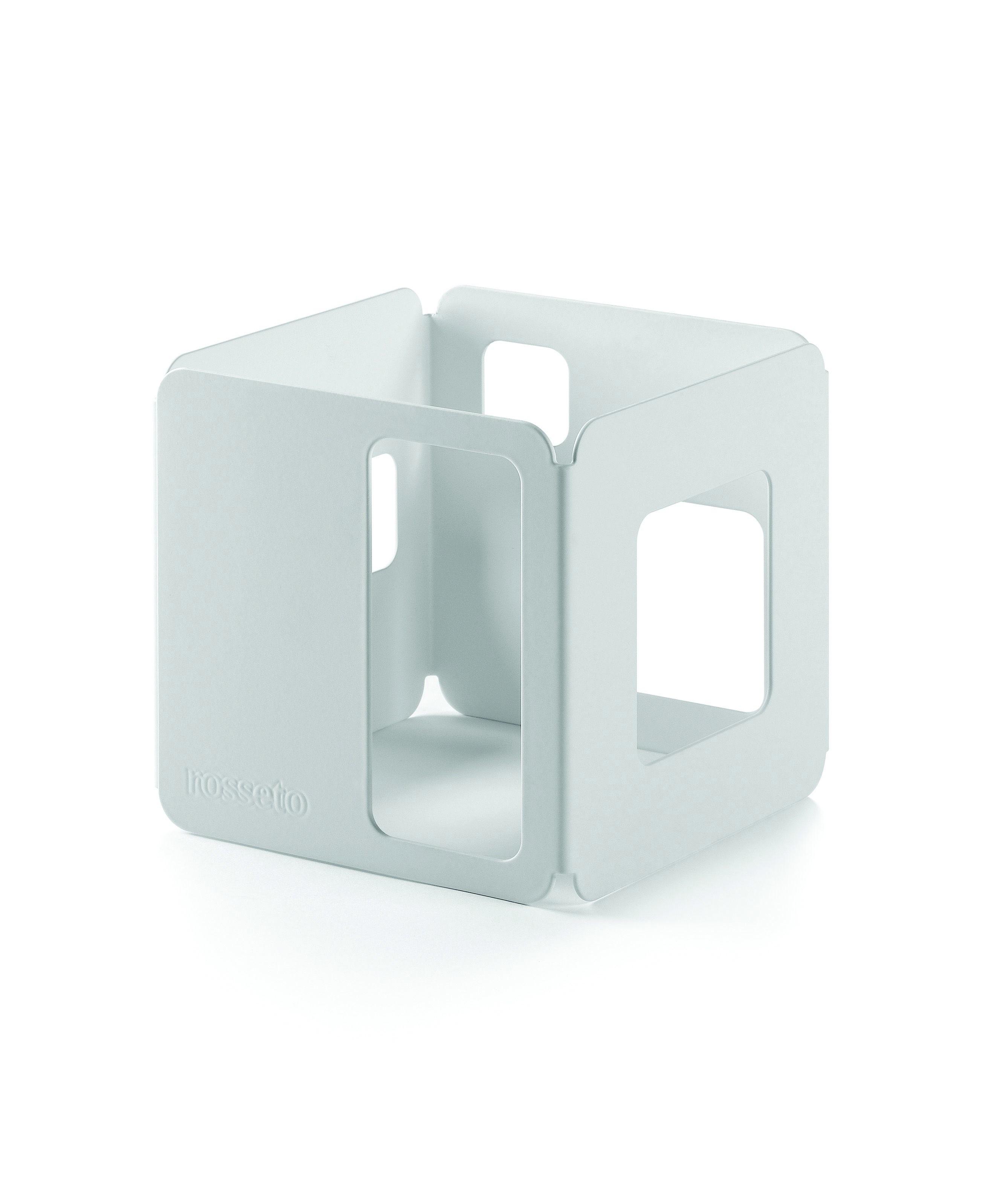 """Rosseto SM147 White Matte Steel Square Riser 6"""" x 6"""" x 6""""H"""