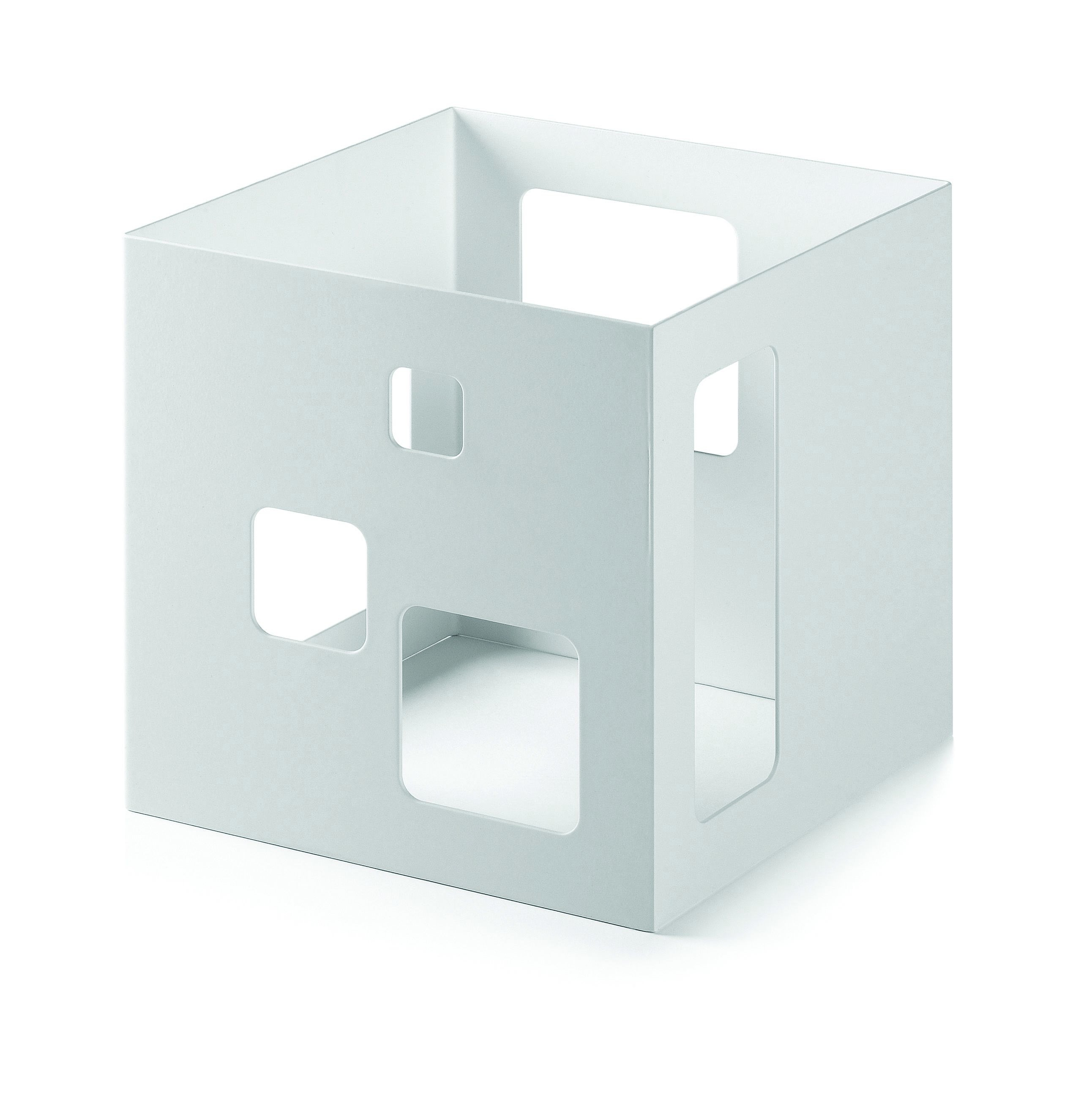 Square Riser-White Matte Powder Coated Steel Finish- 7