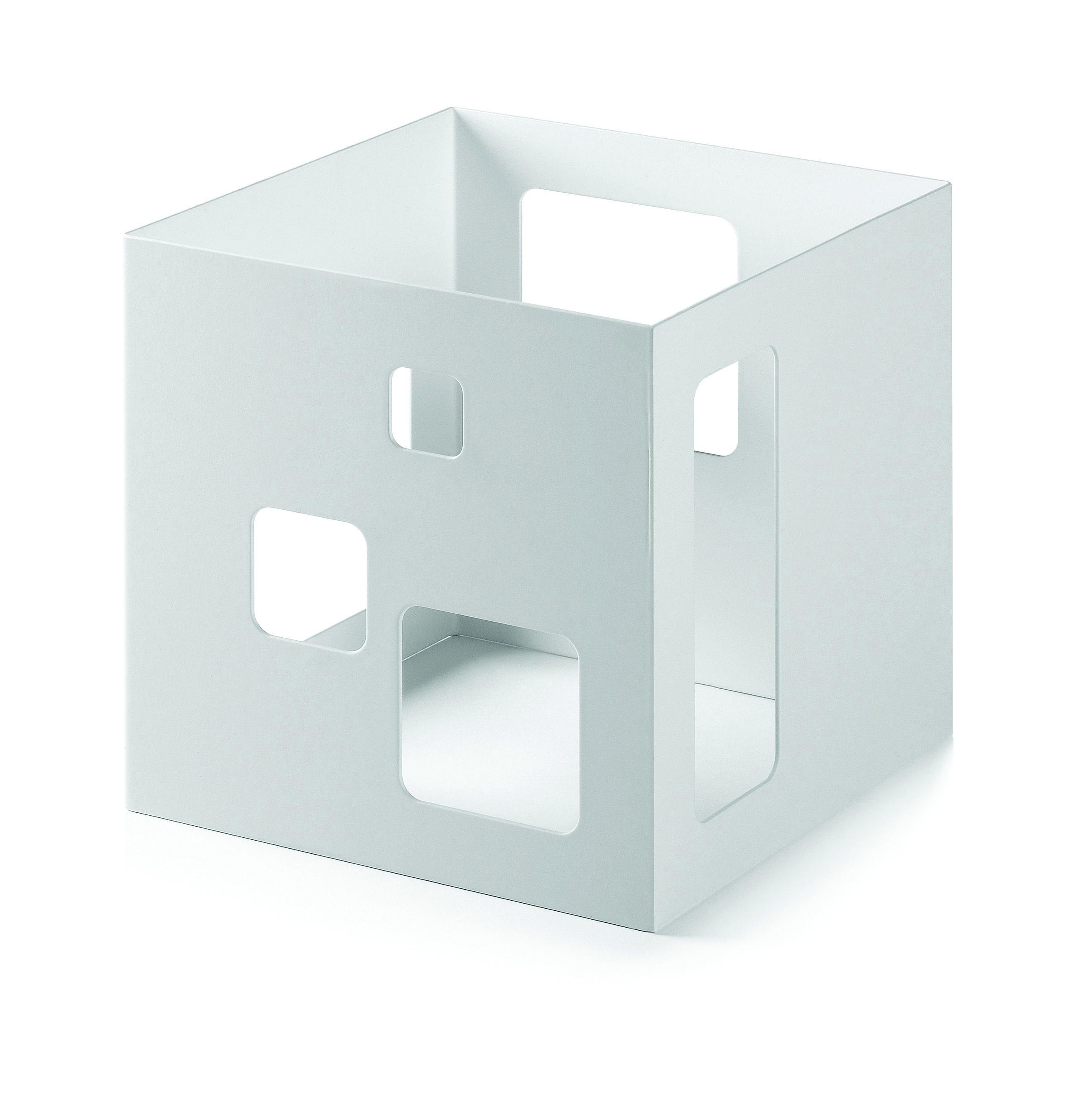 """Rosseto SM148 White Matte Steel Square Riser- 7"""" x 7"""" x 7""""H"""