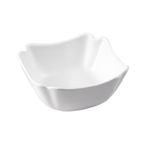 "CAC China SLB-7 Porcelain Square 6"" Salad Bowl 24 oz."