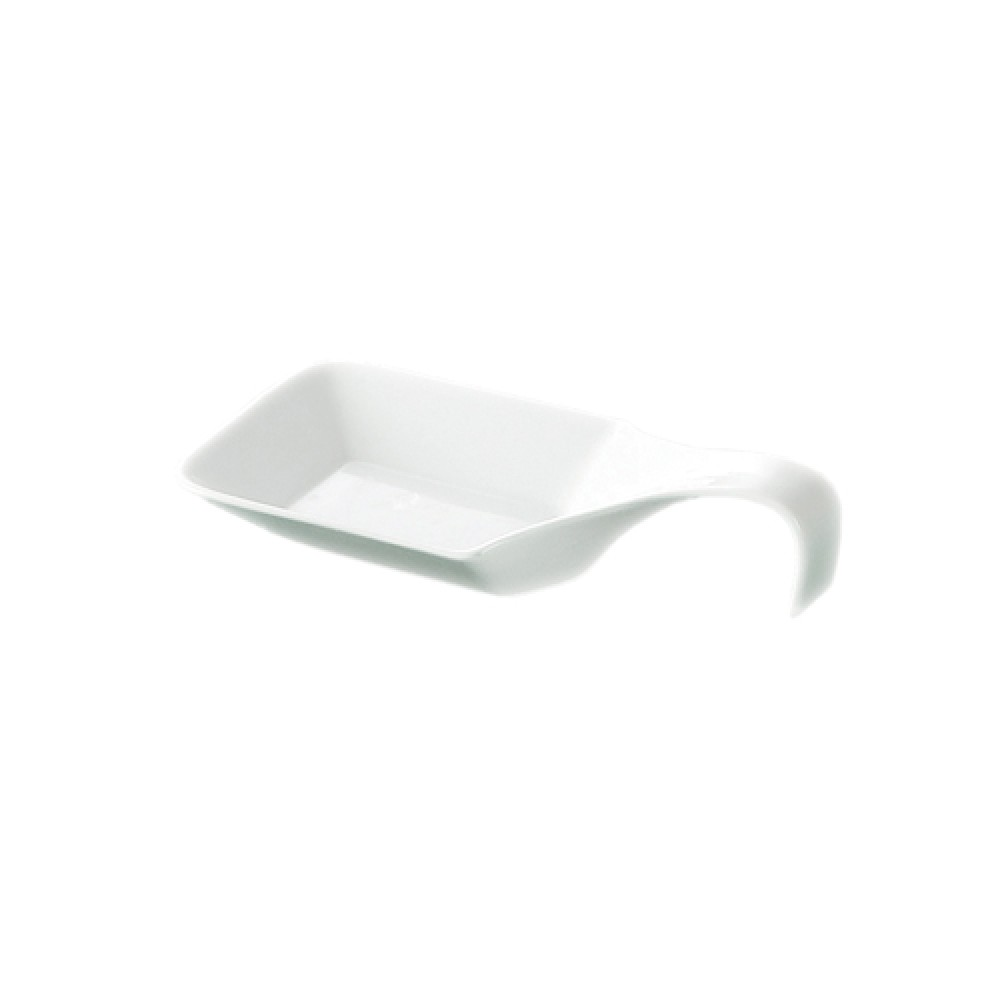 "CAC China PTS-44 Party Collection 1.5 oz Square Spoon, 4 3/4 "" x 2 1/2"""
