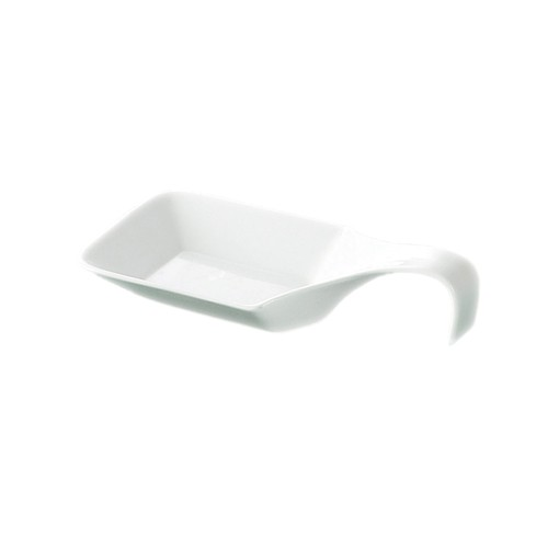 "CAC China PTS-45 Party Collection 5-1/2 oz. Square Spoon, 7 1/2"" x 3 1/4"""