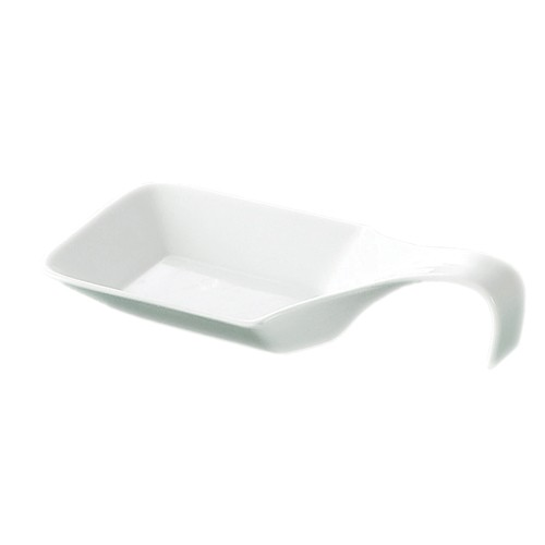 "CAC China PTS-46 Party Collection 9 oz. Square Spoon, 9 3/4"" x 5"""