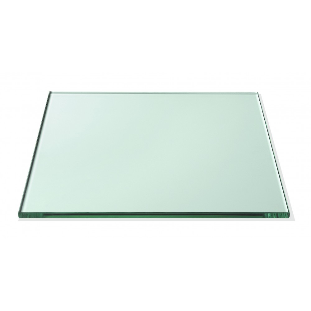 "Rosseto GTS14 Square Clear Tempered Glass Surface 14"" x 14"""