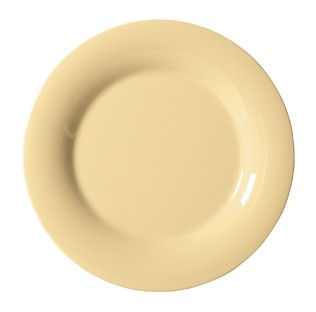 G.E.T. Enterprises WP-6-SQ Diamond Harvest Squash Melamine Wide Rim Plate 6-1/2""