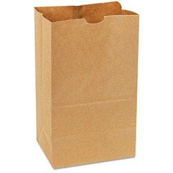 Squat Paper Bag, Heavy-Duty, Brown Kraft, 20#, 8-1/4x5-15/16x14-3/8, 500-Bundle