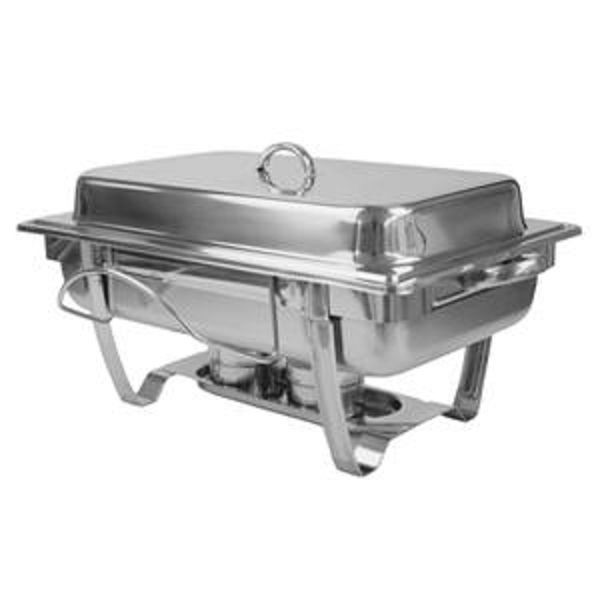 Thunder Group SLRCF0833BT Stainless Steel Full Size Stackable Chafer