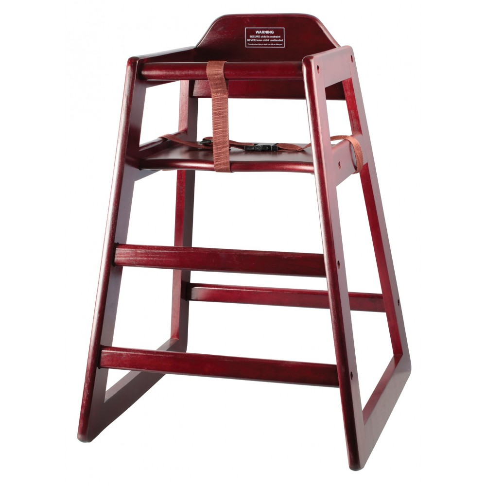 Winco CHH-103A Mahogany Finish Stacking High-Chair, Assembled