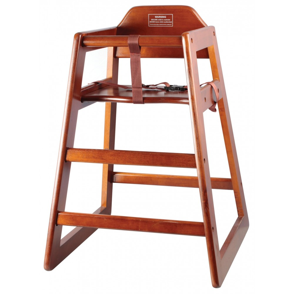 Stacking Assembled High-Chair, Walnut