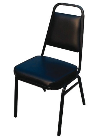 Stacking Chair With 2 Thick Black Pad Seat