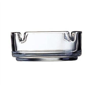 "Cardinal 51257 Stacking Clear Glass Ashtray, 3-1/4"" Dia."